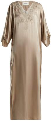 Icons Rose Silk Maxi Dress - Womens - Beige