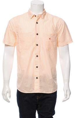 Stone Island Marina Striped Button-Up Shirt