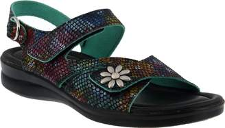 Spring Step Flexus by Asymmetrical Leather Sandals - Mukava