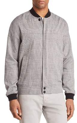 J Brand Oliver Plaid Bomber Jacket
