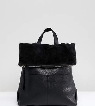 Accessorize Lydia black leather backpack