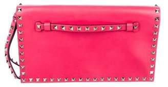 Valentino Leather Rockstud Wristlet