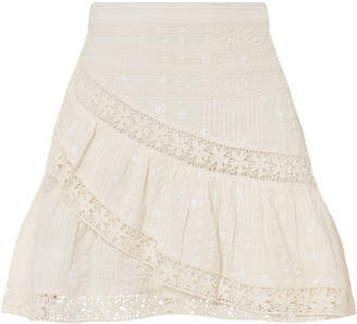 LoveShackFancy Piper Lace Mini Skirt