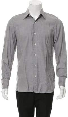 Tom Ford Houndstooth Print Button-Up Shirt