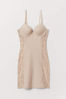 H&M Firm Shaping Push-up Slip - Beige