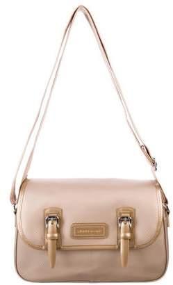Longchamp Embossed Buckle Shoulder Bag