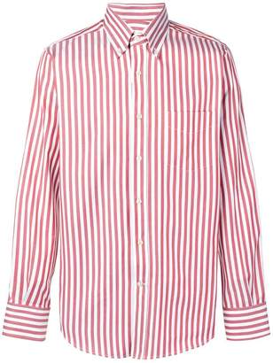 Canali striped button down shirt