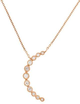 Zina Suneera 18K Diamond Moon Pendant Necklace