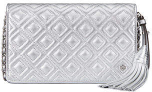 Tory Burch Fleming Metallic Crossbody Wallet