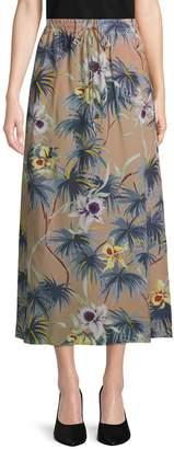 Valentino Hawaiian Couture Silk Skirt