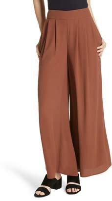Eileen Fisher Wide Leg Silk Pants