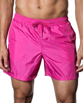Jared Lang Solid Swim Shorts, Pink