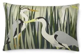 Williams-Sonoma Williams Sonoma Chesapeake Heron Printed Silk Lumbar Pillow Cover