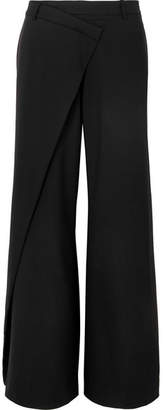 Monse Wool-blend Wide-leg Pants - Black