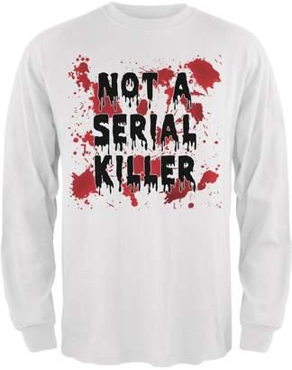Old Glory Halloween Not a Serial Killer Blood Splatter Mens Long Sleeve T Shirt LG