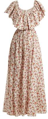 Emilia Wickstead Jarvis Floral Print Cotton Maxi Dress - Womens - Yellow Print