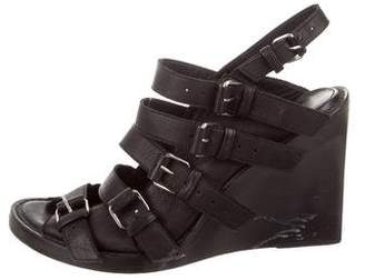Ann Demeulemeester Leather Cage Wedges