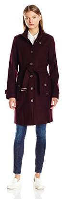 Tommy Hilfiger Women's Single Breasted Wool Trench Coat $67.82 thestylecure.com