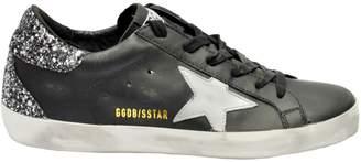 Golden Goose Glittered Heel Superstar Sneakers