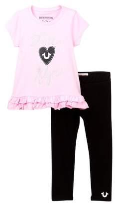 True Religion Ruffle Tunic & Leggings Set (Toddler Girls)