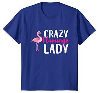 Crazy Flamingo Lady Wading Bird Species Lover Humor T-Shirt