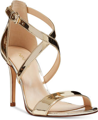 0d56fcac525b Nine West Gold Leather Women s Sandals - ShopStyle