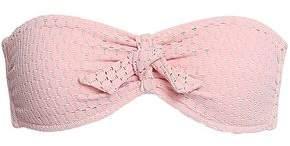 Melissa Odabash India Knotted Stretch-pique Bandeau Bikini Top