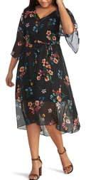 Rachel Roy Rosita Chiffon Overlay Dress