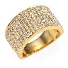 Anita Ko Diamond 18K Gold Marlow Band Ring