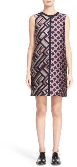 Max Mara Women's Max Mara 'Dax' Jacquard Shift Dress