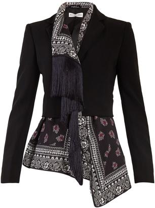 Liberty notch-lapel scarf-panel jacket
