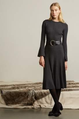 Genuine People Bell Sleeve Knit Midi Dress
