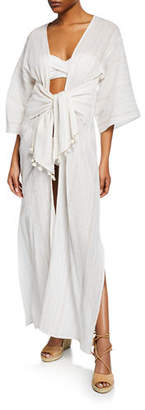 Flora Bella Trouvaille Shimmery Maxi Coverup Caftan
