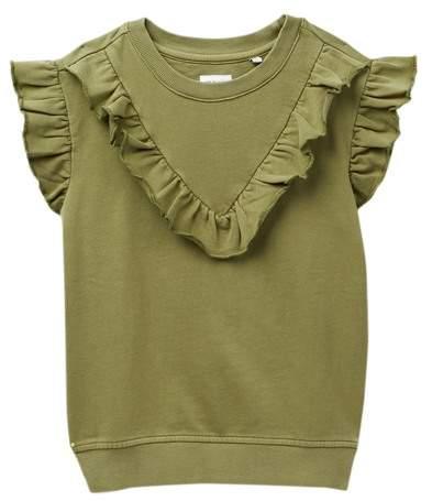 HUDSON Jeans Terry Ruffle Sleeveless Sweater (Big Girls)