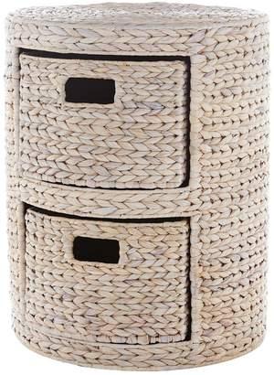 Very Round Arrow Weave 2-Drawer Storage Unit - White