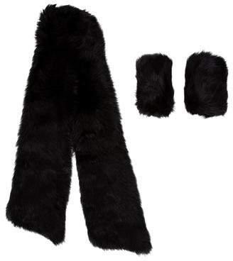 Fur Scarf and Cuff Set