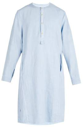 By Walid - Pablo 19th Century Linen Tunic - Mens - Light Blue