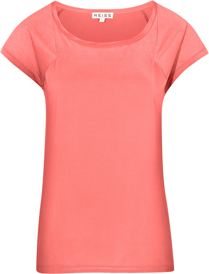 Posy SILK FRONT T-SHIRT
