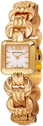 Bruno Magli Women's Mira 1181 Swiss Quartz Watch on Gold Link Bracelet