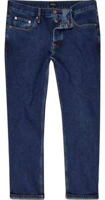 River Island Dark blue Cody loose fit jeans