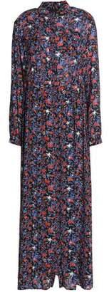 Just Cavalli Printed Crepe Maxi Dress