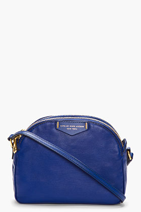 Marc by Marc Jacobs Royal blue leather Downtown Lola Cross body bag