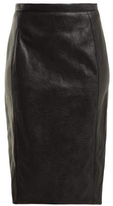 Stella McCartney Faux Leather Pencil Skirt - Womens - Black