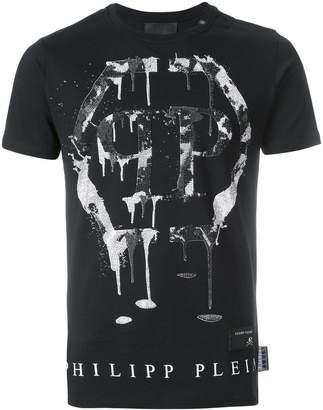 Philipp Plein front slogan print T-shirt