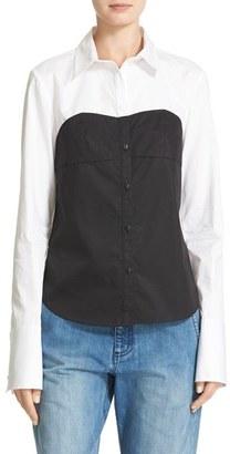 Women's Tibi Bustier Shirt $295 thestylecure.com