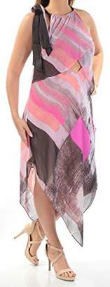 Rachel Roy Women's Brushed Square Printed Scarf Dress