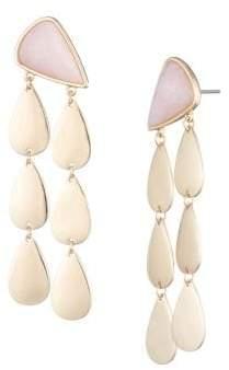 Trina Turk Trina By Scenic Route Goldtone Petal Linear Drop Earrings