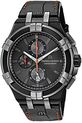 Maurice Lacroix Men's 'Aikon' Swiss Quartz Stainless Steel and Leather Watch