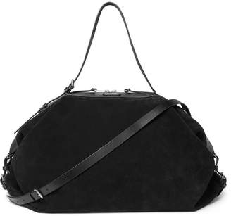 Saint Laurent Leather-Trimmed Suede Holdall