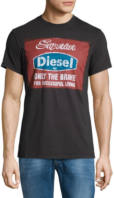 Diesel Isavros Short-Sleeve Graphic Tee, Black $55 thestylecure.com